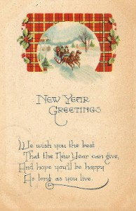 Antique Graphics Wednesday – New Year & Valentine Postcards