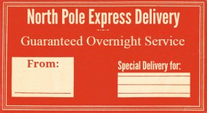 North Pole Christmas Gift Tag