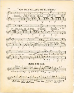Antique Graphics Wednesday – Spring & Summer Sheet Music – Free Printable Graphics