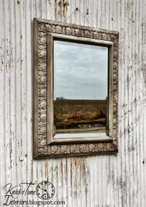 Old World Paint Finish on a Modern Mirror