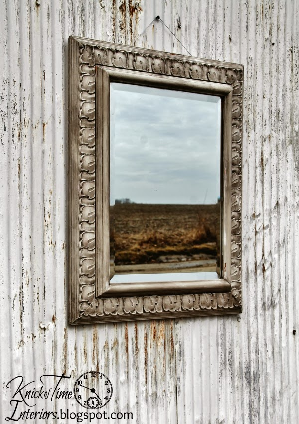 Old World Paint Finish On A Modern Mirror Knick Of Time