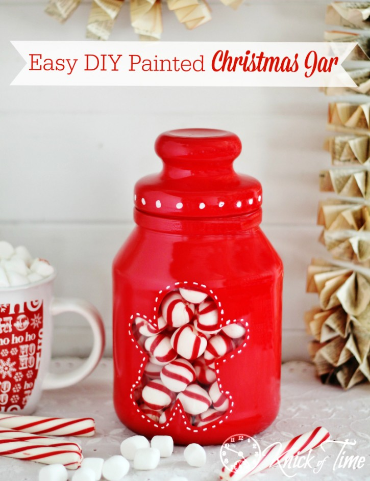 Painted Gingerbread Man Christmas Candy Jar