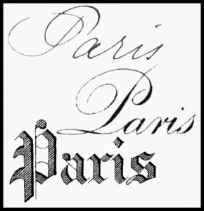 Paris Typography Graphics – French Transfer Images