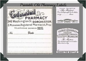 Antique Graphics Wednesday – Vintage Pharmacy Labels