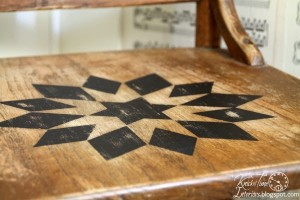 A Quilt Inspired Wooden Chair and a Childhood Story
