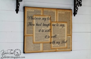 Repurposed Book Page Canvas Hymn Art