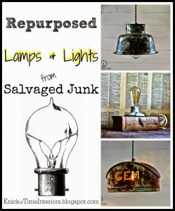 Repurposed Lamps & Lights