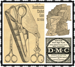 Antique Graphics Wednesday – 1900's Sewing Goods Images