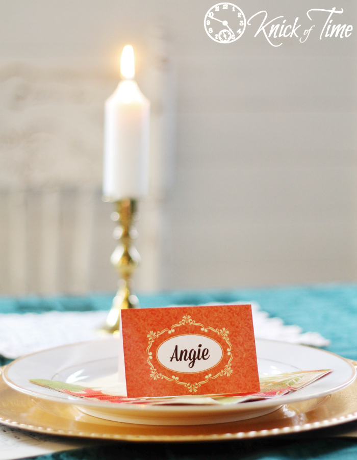 Thanksgiving Table Setting Place Card Printable