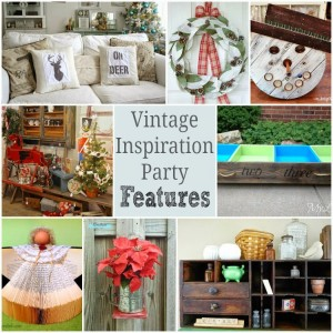 Vintage Inspiration Party #164 – lots of Vintage Christmas Decor!