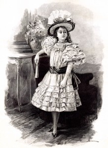 Victorian Little Girl in a Fancy Dress – Instant Art Printable