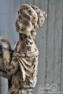 Graceful Woman Garden Statue and a Few Chalkboards