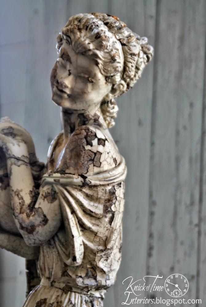 Graceful Woman Garden Statue And A Few Chalkboards Knick