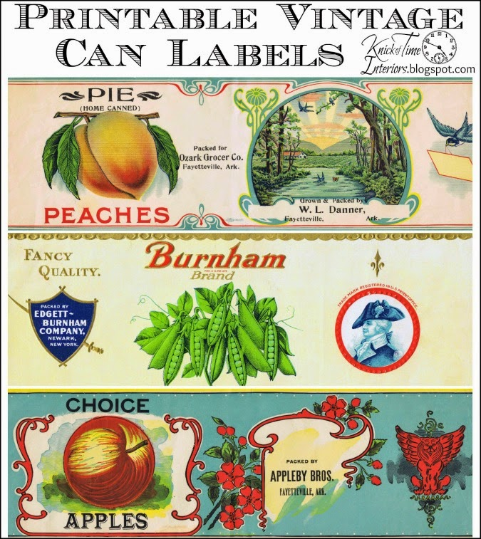 Antique Tin Can Fruit Label Printables | Knick of Time