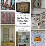 Vintage Home Decor features
