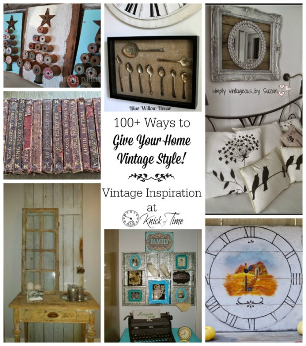 Vintage Home Decor features