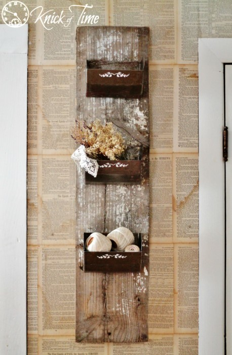 Wall bins with Farmhouse Industrial Style