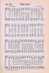 Sonday – {What Then?} Antique Hymn Page Printable