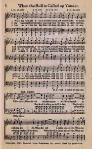 {Sonday} When the Roll is Called up Yonder – Printable Hymn Book Page