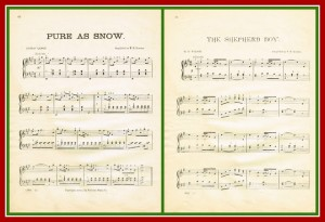 Antique Graphics Wednesday – 2 Winter Sheet Music Pages