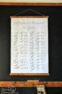 DIY Antique School Wall Chart