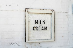 Milk and Cream Co. Sign