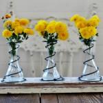 bed spring flower vases