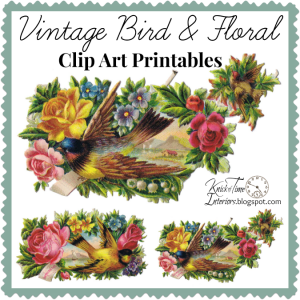 Birds and Floral – Vintage Clip Art Images