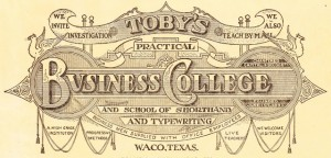Antique Graphics Wednesday – 1919 Fancy Business College Logo