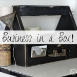 business in a box wooden tool caddy tote