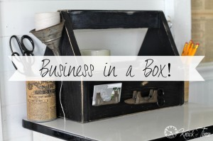 Little Wooden Tool Tote – Business in a Box!