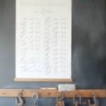 chalkboard wall barn pulleys