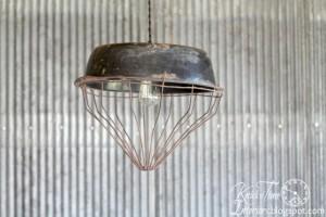 From the Barnyard – Chicken Feeder Hanging Light