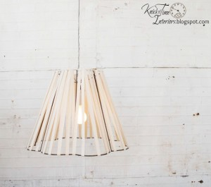 Deconstructed and Reconstructed Lamp Shade