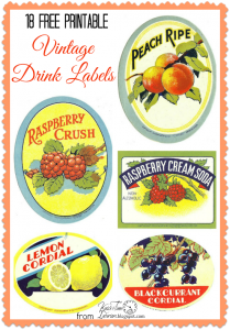Antique Graphics Wednesday – 18 Beverage Labels