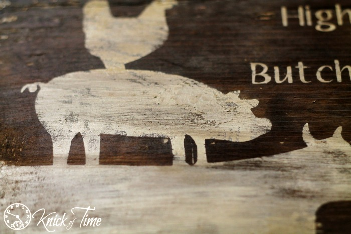 farmhouse sign on salvaged wood
