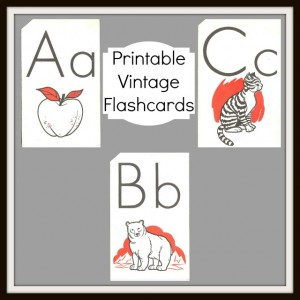 Antique Graphics Wednesday – Vintage Alphabet Flashcards