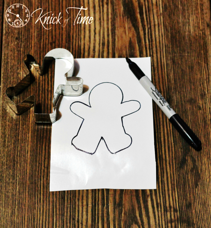 gingerbread man cookie cutter template for Christmas cookie jar