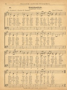 Sonday – {Harvest Song} Antique Hymn Page Printable