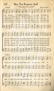 Sonday – {Have You Forgotten God} Antique Hymn Page Printable