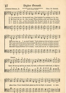 Sonday – {Higher Ground} Antique Hymn Page Printable