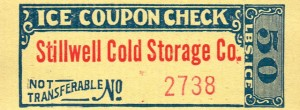 Antique Graphics Wednesday – Ice Coupon Checks & the History Behind Them