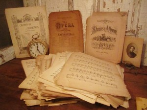 Words and Notes – Antique Books and Sheet Music SALE