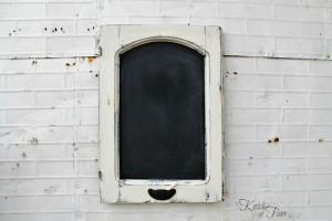 Antique Cabinet Door Chalkboard