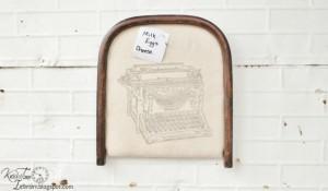 Repurposed Chair Seat Bulletin Board