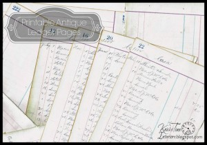 Antique Ledger Pages – A Glimpse into an 1800's Life