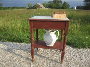French Country Farmhouse Side Table