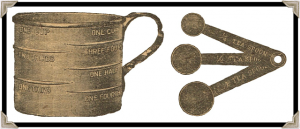 Antique Graphics Wednesday – Measuring Cup & Spoons