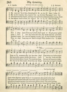 Antique Graphics Wednesday – My Country song page
