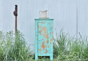 Homemade Chalk Style Paint Pie Safe